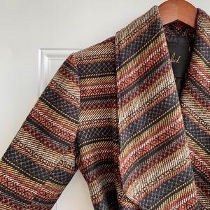 Wrap-style tie-waist sweater jacket by Jack